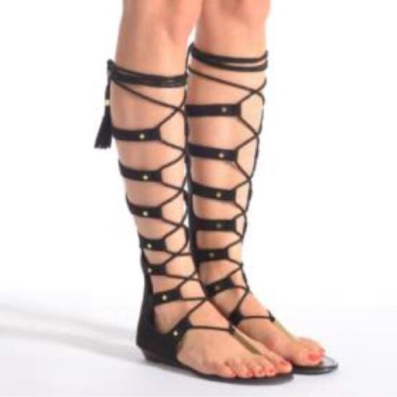 bc41cb74a1d Aldo Shoes - ALDO MARIANNE 98 Gladiator Knee High Sandals